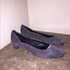 ZARA shimmery,colorful sparkly flats(39)